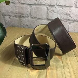 🧨SALE! 3/$20 Betsey Johnson brown studded belt 🍃